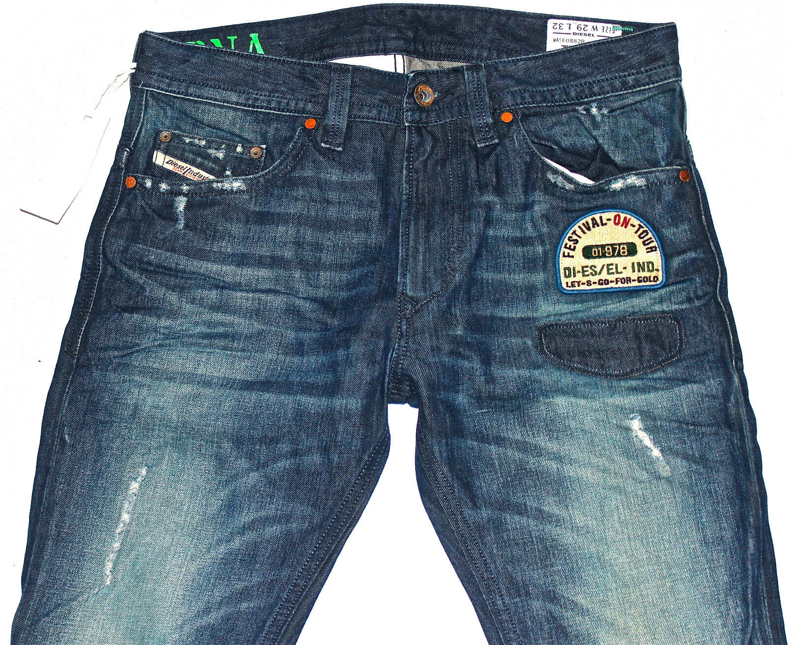 DIESEL THAVAR 882R JEANS 29X32 100% AUTHENTIC SKINNY FIT TAPErot LEG