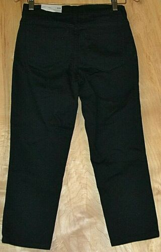 NYDJ Not Your Daughters Jeans ALINA CaprisBlack Size 00 0 6 8 4P 6P