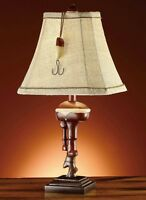 Outboard Boat Motor Table Lamp Small Rustic Vintage Style Nautical Lake Fishing