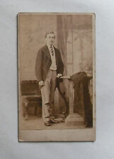 Antique c1880 Cabinet B/W Studio Photograph. Formally-Dressed Young Man. Halifax