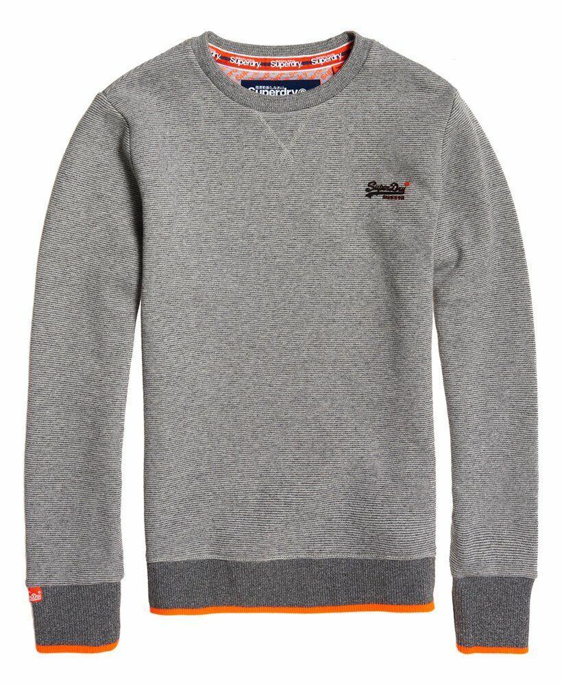Superdry Orange Label Hyper Pop Sweatshirt Crew Neck grau Feeder Größes S - XXXL