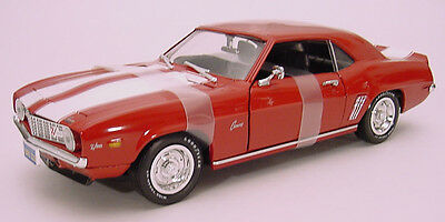 1:18 Ertl American Muscle Chevy Red with White Stripe 1969 Camaro Z28 Item 7455