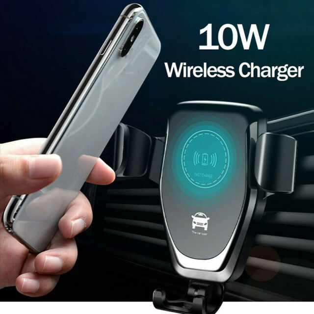 Qi Fast Charging Wireless Charger Car Mount Phone Holder Automatic Clamping HL