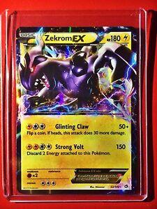 Pokemon-card-Zekrom-EX-Holo-B-amp-W-Legendary-Treasures-Edition-Ed-52-113-1st-M