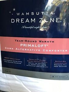 Wamsutta-Dream-Zone-White-Goose-Down-Prima-Loft-Comforter-600-TC-Twin