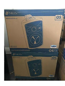 Niles-OS7-5-White-Indoor-Outdoor-Patio-All-Weather-Speakers-Pair-New-W-Brackets
