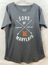Red,X-Large NCAA Maryland Terrapins Est Stack Jersey Short Sleeve T-Shirt
