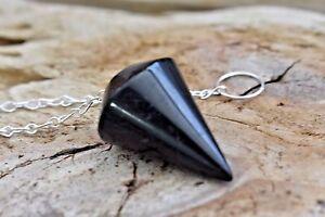 Black-Tourmaline-Schorl-Pendulum-Reiki-Chakra-Meditation-Crystal-Healing-Dowsing