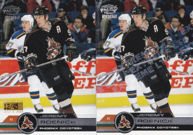 01-02 Pacific Jeremy Roenick /45 Premiere Date Parallel Coyotes 2001
