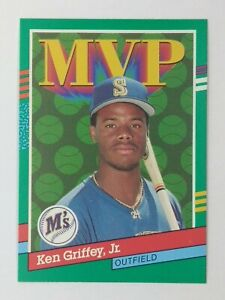 1990 90 Leaf MVP Error Ken Griffey Jr #392, Mariners, HOF, No Period After Inc