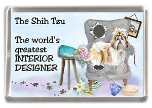 Shih-Tzu-Dog-Fridge-Magnet-034-Greatest-Interior-Designer-034-by-Starprint