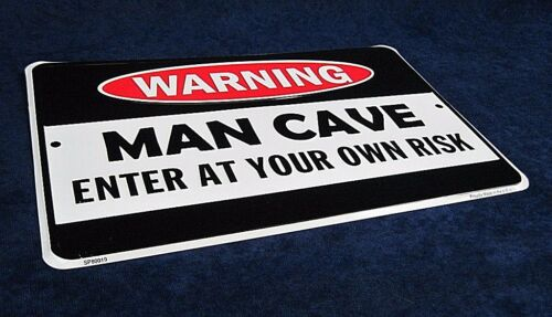 MAN CAVE Embossed Sign Garage Bar Rec Game Rm Shop Wall Decor *MADE IN USA*