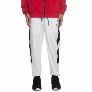 c5fb25ce663077 Mens Jordan Sports Wear Design Diamond Track Pants AQ2686-100 White ...