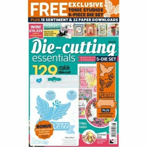 DIE CUTTING ESSENTIALS MAGAZINE ISSUE 14  AUTUMN LEAVES DIE AND EMBOSSING FOLDER