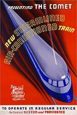 1930s Christmas Baltimore Ohio Vintage Railroad Travel Advertisement Poster