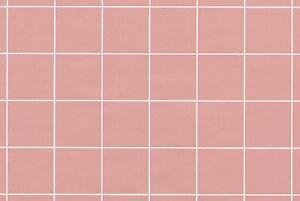 rose pink blocks square tile checks white checkered plaid double
