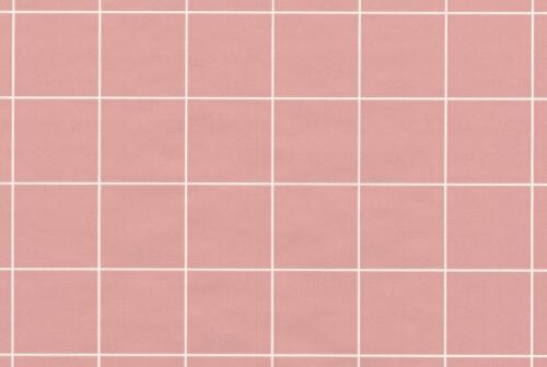 Rose Rose Blocs Square Tile contrôles Blanc à Carreaux Plaid double rouleau papier peint