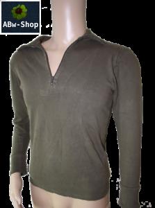 Bundeswehr-langarm-Shirt-Rollkragen-Pullover-Hemd-Polo-Shirt-m-Reissverschluss