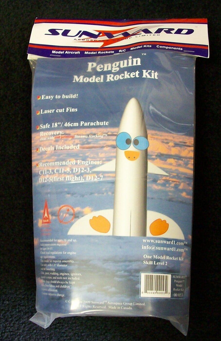 Details about Penguin Model Rocket Kit By Sunward - NEW