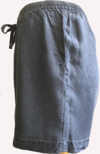 Shorts Womens Casual Shorts Tencel Denim Elastic Waist Drawstring Loose Summer