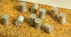 10-Oil-drums-A55-UNPAINTED-N-Gauge-Scale-Langley-Models-Kit-1-148-Scenery-Metal