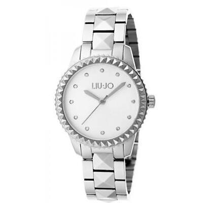 Orologio Donna LIU JO Luxury SPIKE TLJ1122 Bracciale Acciaio Silver NEW
