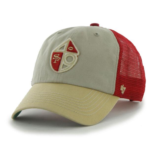 47 BRAND San Francisco 49ers McNally Clean up Retro Tricolor Snap Back Hat  Cap 0408b6609384