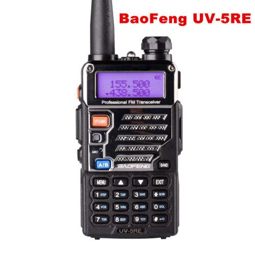 BaoFeng UV-5RE Plus Two way Radio Walkie Talkie UHF VHF Dual Band Portable