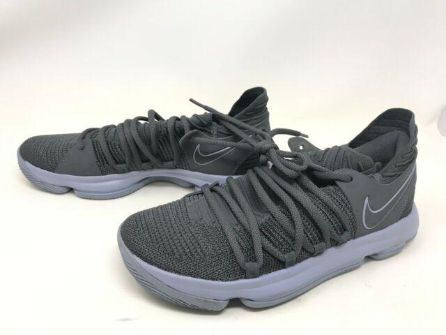 best service 12940 94d12 Mens Nike (897815-005) KD 10 Dark Grey Sneakers Size 10 (406K)