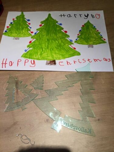 SET OF ACRYLIC CHRISTMAS TREE SEWING//CRAFT TEMPLATES