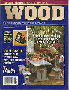 Image Is Loading Wood Magazine Better Homes And Gardens August 1994