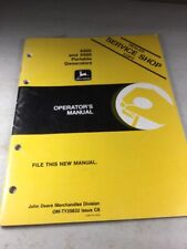 John Deere 4000 Amp 5000 Portable Generators Operators Manual