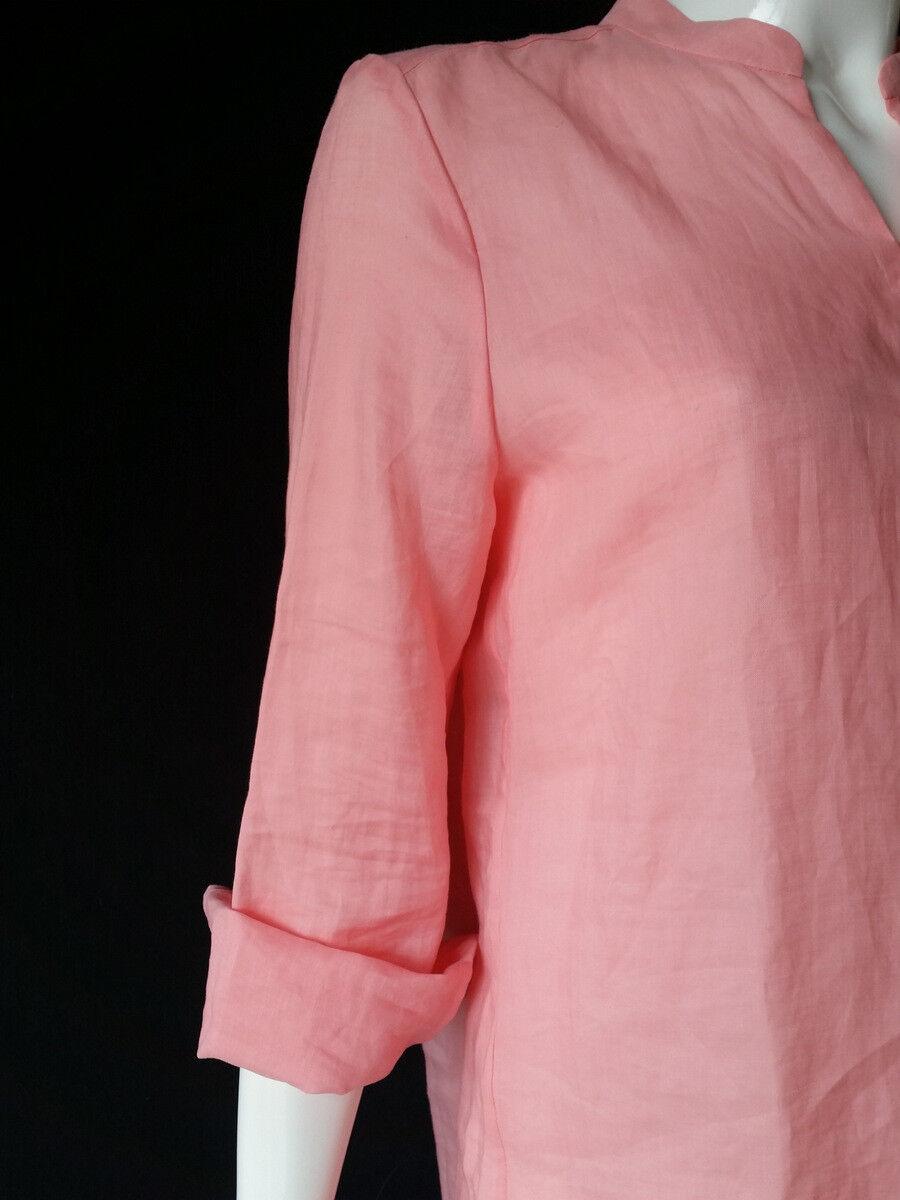Luisa Cerano Camicetta 100% Lino rosa per per per Cardatura Tgl 36 Uk10 Nuovo 73814b