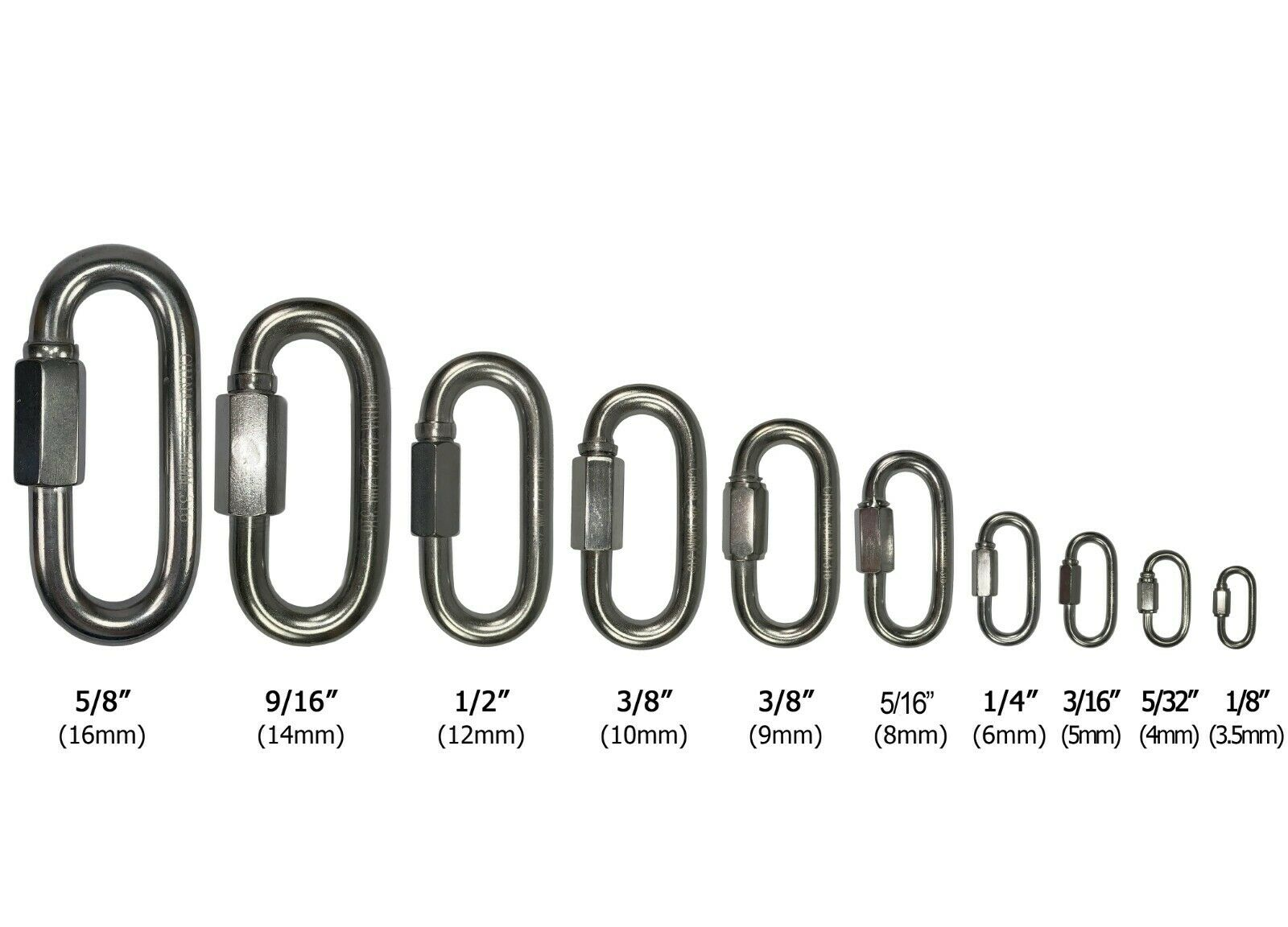 1//2 Spring Snap Hook Carabiner with Eyelet T316 Marine Grade Stainless Steel: 1 5 20 10 20 pcs 2