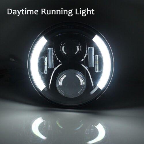 Round LED 7 Inch Headlights Lamp Halo Angle Eyes For Jeep Wrangler JK LJ TJ 60W