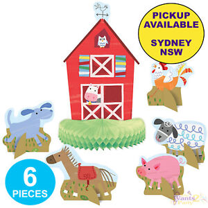 Image Is Loading FARM PARTY SUPPLIES TABLE CENTREPIECES BARNYARD ANIMALS BIRTHDAY