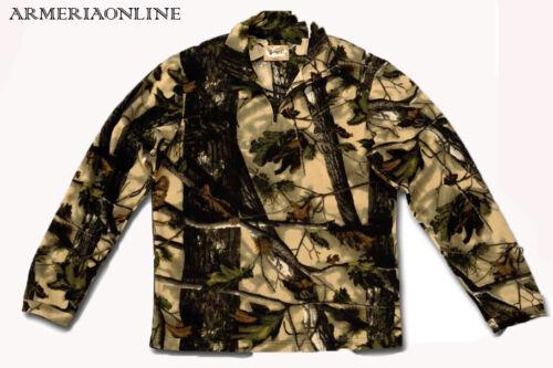 Micropile uomo maglione in pile da caccia bosco mimetico verde escursionismo