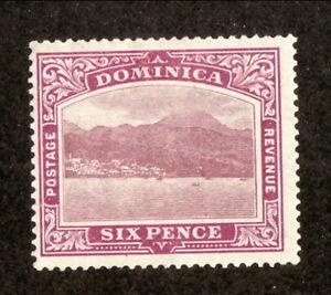 Dominica--#42 MH--Roseau--1909