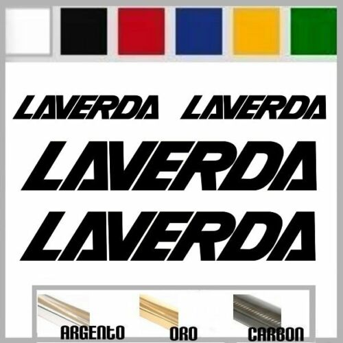 9,5cm set 4 adesivi sticker LAVERDA prespaziato,auto,moto,casco 19,5cm