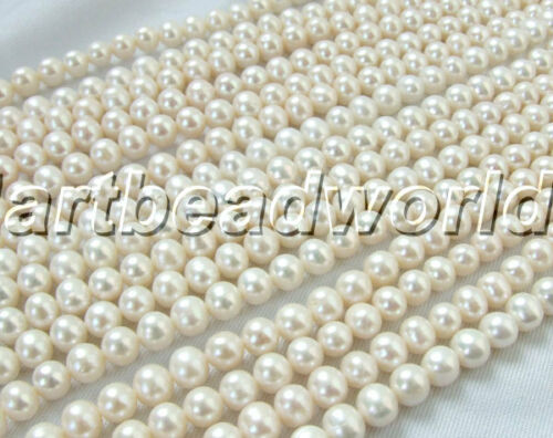 A 7-8MM white round genuine natural freshwater pearl loose beads marking supply