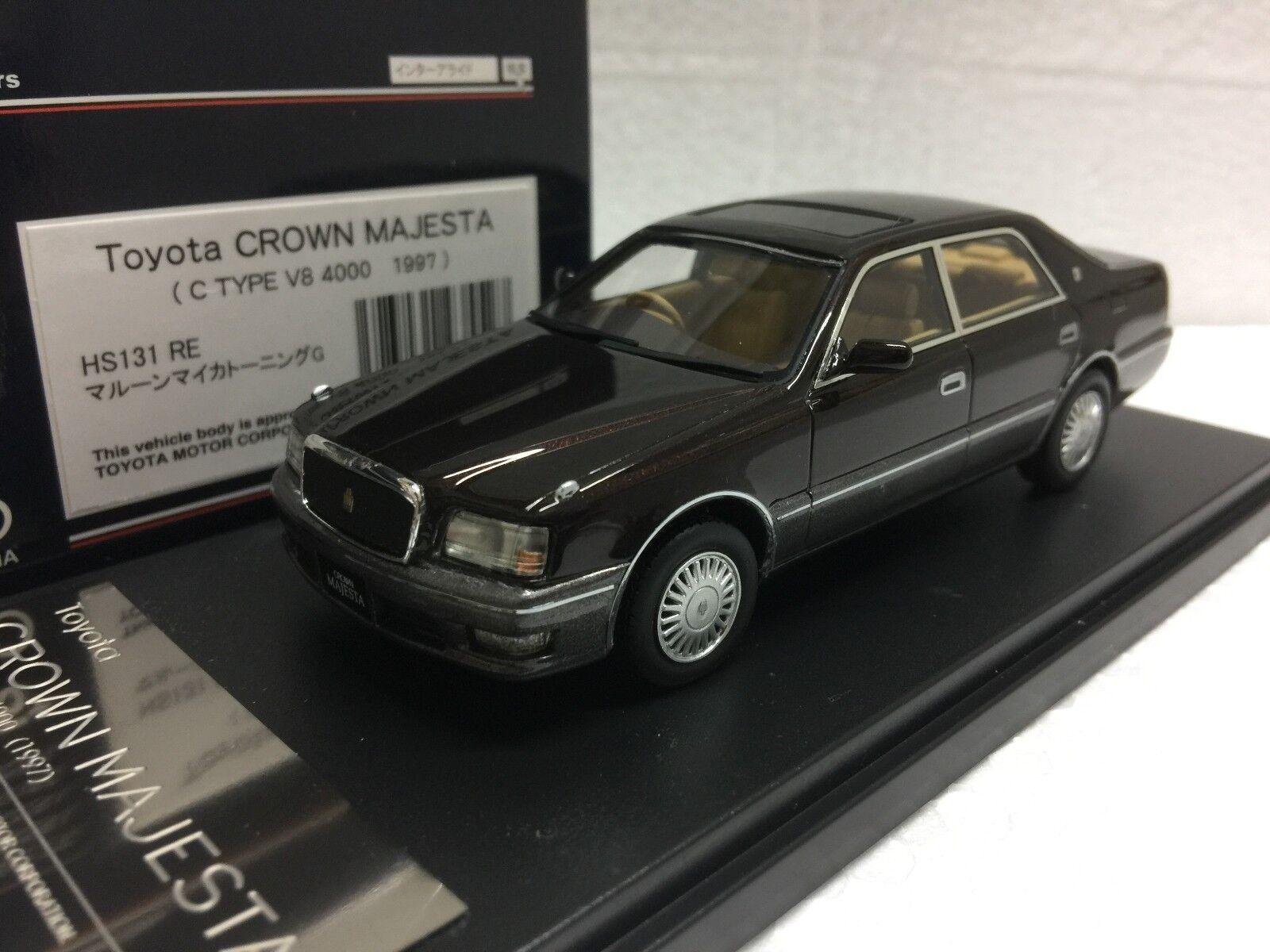 1 43 HI STORY HS131RE TOYOTA CROWN MAJESTA V8 C C C TYPE 4000 model car WINE RED ef045b