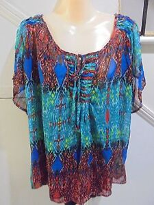MILLERS-NWT-SIZE-22-GREEN-BLUE-RED-SMOCK-TOP-amp-CAMISOLE