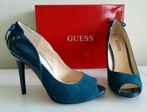 Nuevo zapatos para mujer Guess Tacones Altos Bombas, Color: Verde persa,  Talla 7