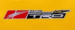 TRD Racing Refletive Decal Sticker Universal Car Sticker H: 2.6 x W: 19.8cm