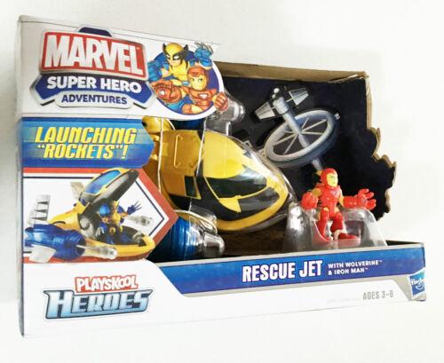 Marvel Avengers Playskool Heroes Jet Plane Wolverine Iron Man Ages 3 Ironman Toy