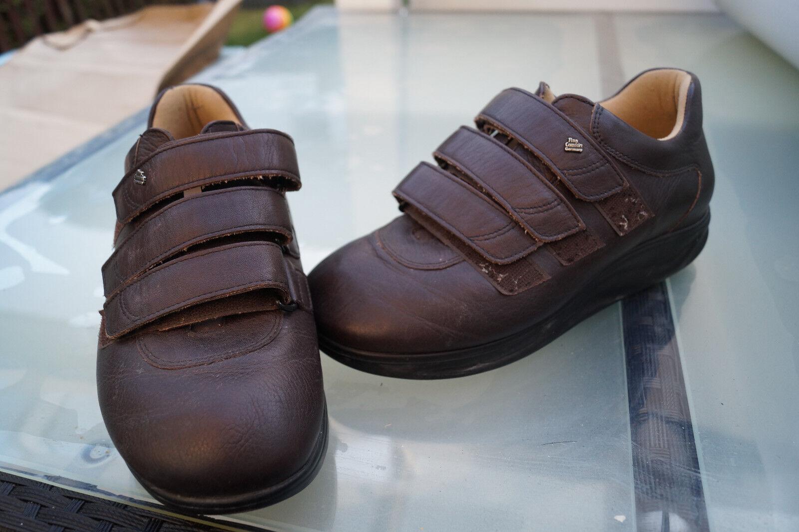 Finn braun Comfort Zapatos Prophylaxe Diabetiker Gr.7,5/  41 Leder braun Finn Klett V TOP #8 9e8b5a