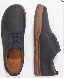 modischer Stil Bestseller einkaufen professioneller Verkauf Details about Clarks Men's Trapell Apron Navy Nubuck Leather Uk Size 13G/47