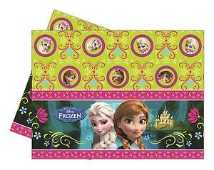 Disney-Anna-Y-Elsa-De-Frozen-Mantel-Plastico-Fiesta-Mantel-1-5-Unidades