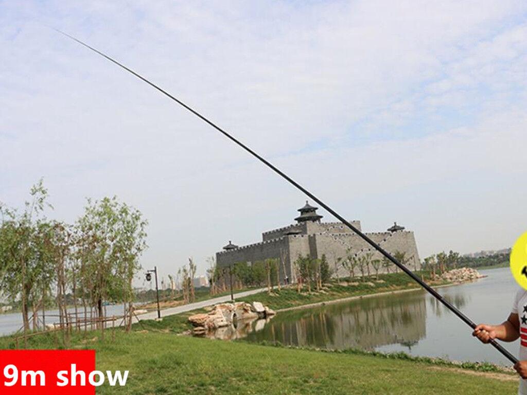 Fishing Rod Carbon Carbon Carbon Fiber Telescopic Pole Stream Portable Fish Pole 7.2M-12M ecd8a1