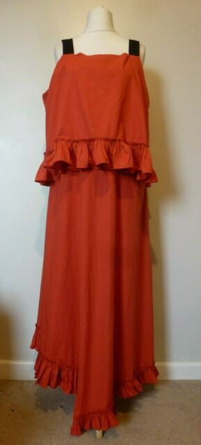 ASOS TALL Grosgrain Straps Cotton Ruffle Detail Maxi Dress Size 18 BNWT RRP £42